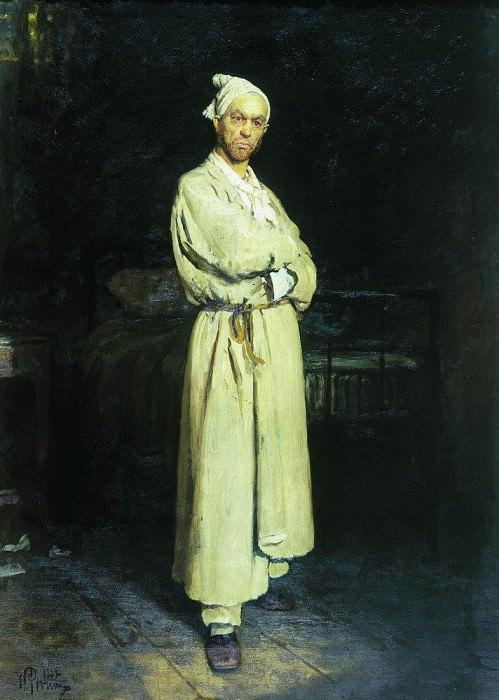 Poprishchin (the hero of novels by Nikolai Gogol). 1882. Ilya Repin