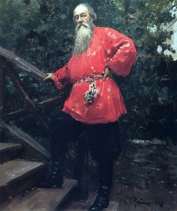 VA Stasov at his dacha in the countryside near Starozhilovka Pargolovo. 1889. Ilya Repin