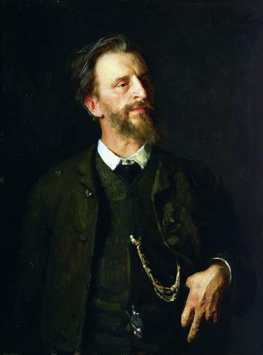 Portrait of the artist GG Myasoyedov. 1884, 1886. Ilya Repin