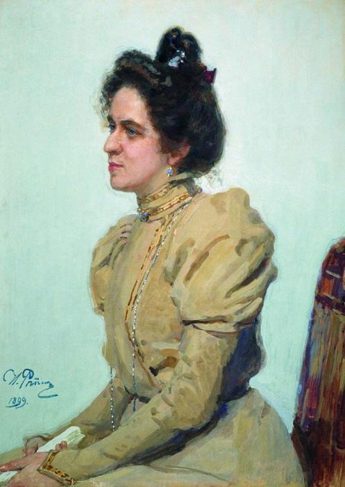 Portrait of Lubov Nikolaevna Sazonova, Shuvalov. 1899. Ilya Repin