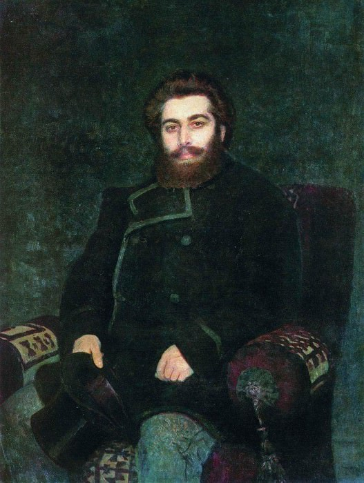 Portrait of the artist AIKuindzhi. 1877. Ilya Repin