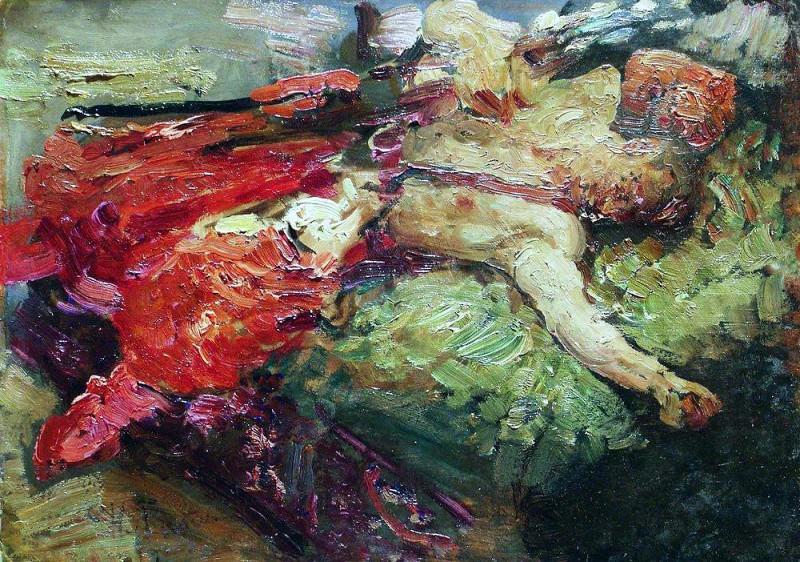 Спящий казак. 1914. Илья Ефимович Репин