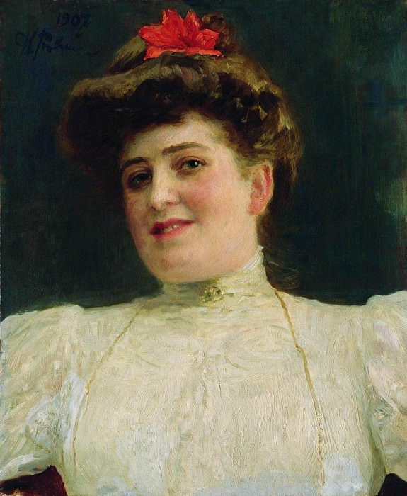 Portrait of a Woman (Olga Shoofs). 1907. Ilya Repin