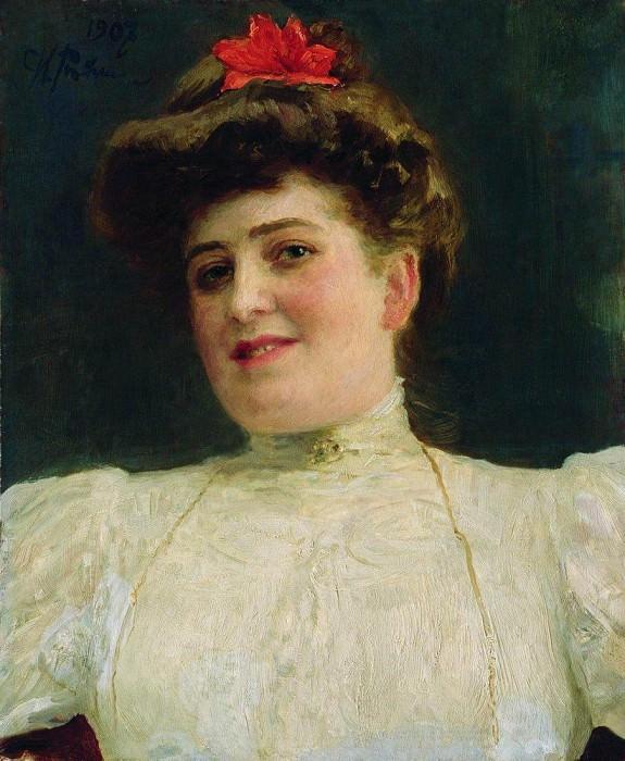 Женский портрет (Ольга Шоофс). 1907. Илья Ефимович Репин