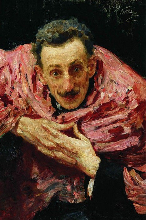 Portrait of an actor, playwright and director VD Ratov (SM Muratov). 1910. Ilya Repin