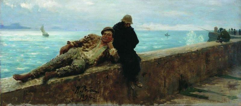hobo. Homelessness. 1894. Ilya Repin