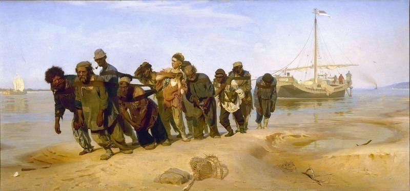 Haulers on the Volga. Ilya Repin