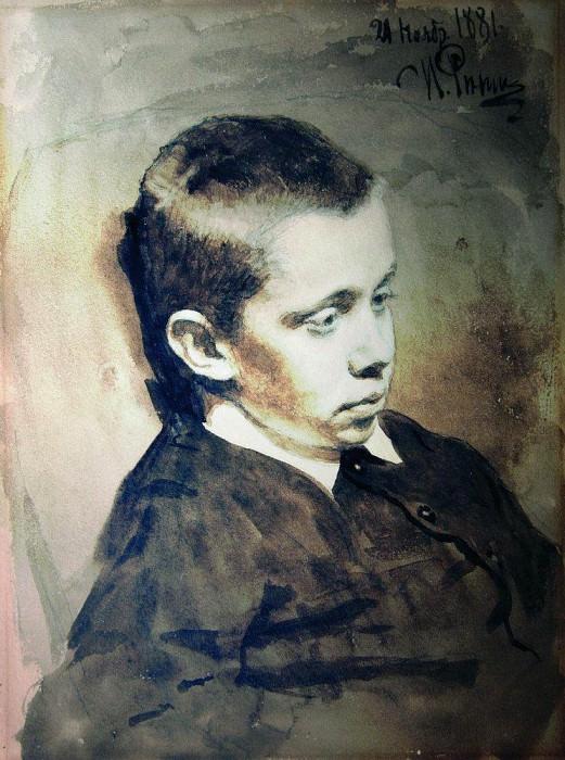 Portrait of Alexander S. Matveyev. 1881. Ilya Repin
