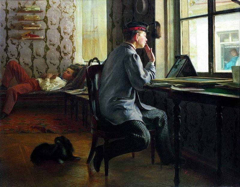 Preparation for the exam. 1864. Ilya Repin