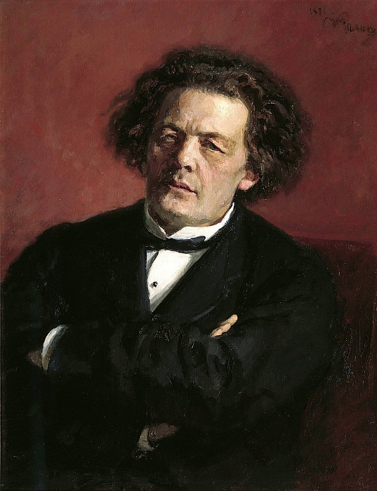 Portrait of the Composer Anton Rubinstein. 1881. Ilya Repin