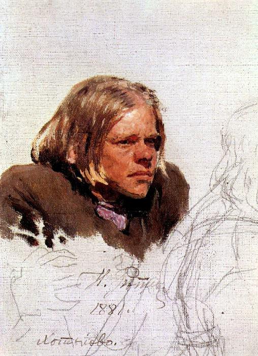 Head hunchback. 1881. Ilya Repin