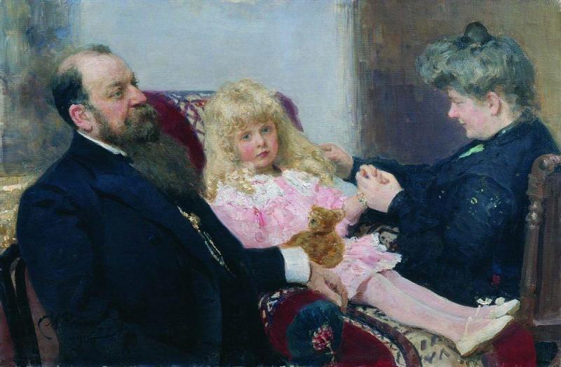 Family Portrait Delarov. 1906. Ilya Repin