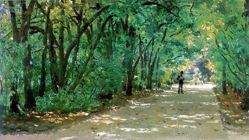 Alley in the park. Kachanivka. 1880. Ilya Repin