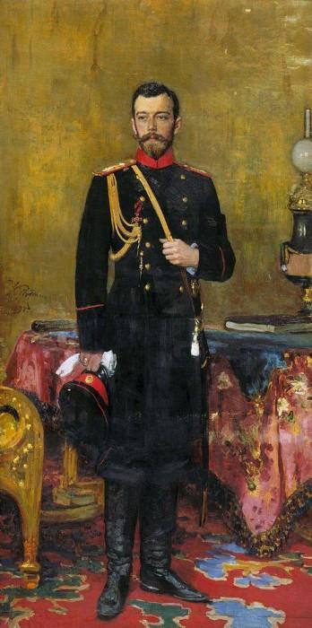 Portrait of Nicholas II. 1895. Ilya Repin