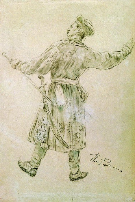 figure was dancing. 1900. Ilya Repin