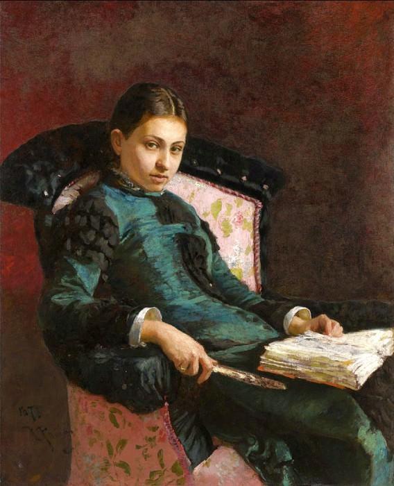 Portrait of artist's wife, Vera Repina. Ilya Repin