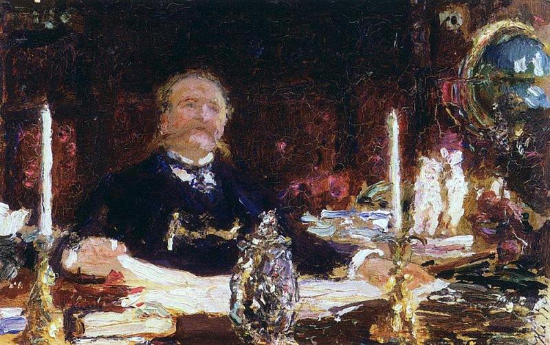 Portrait of Wilhelm von Vilgelmovich Bitner. 1912. Ilya Repin