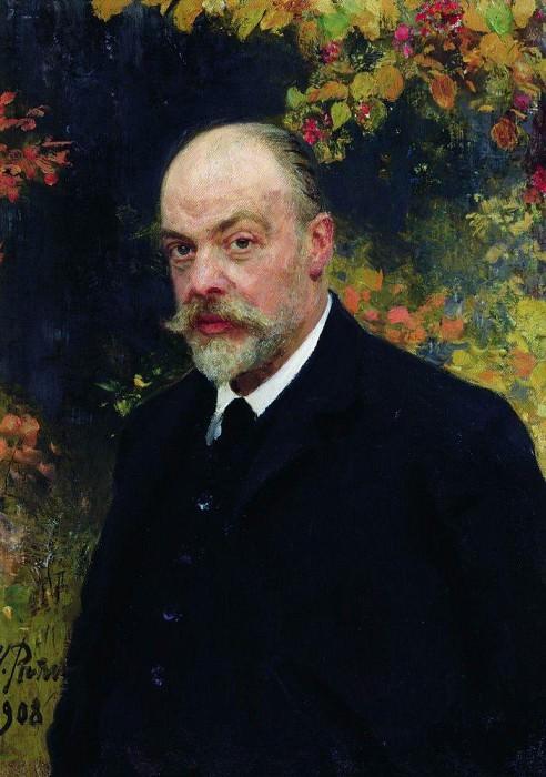 Portrait Kryuchkov. 1908. Ilya Repin