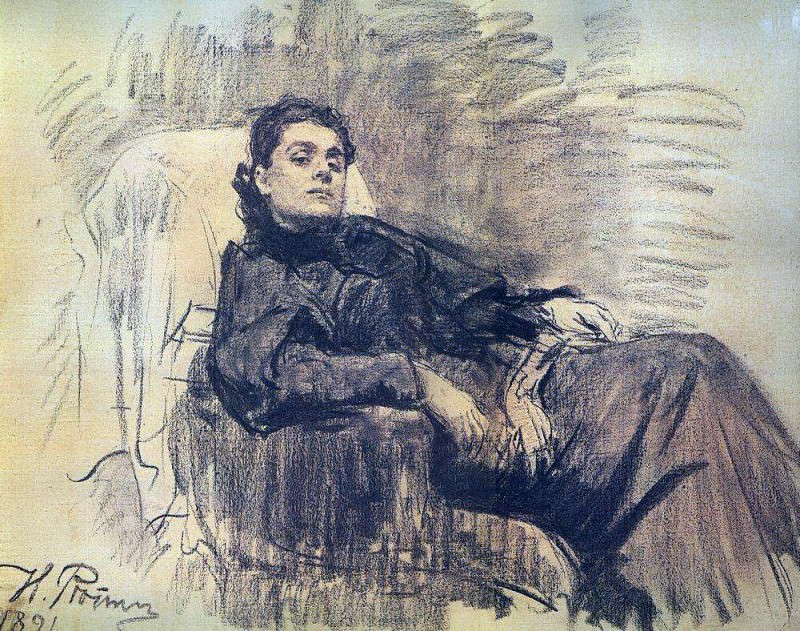 Portrait of the actress Eleonora Duse. 1891. Ilya Repin