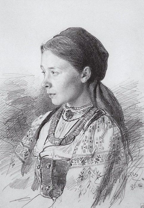Portrait MI Artsybushev. 1880. Ilya Repin