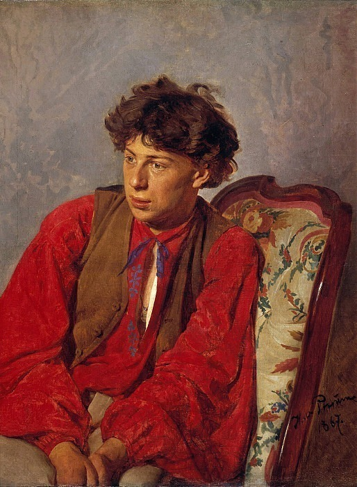 Portrait of Repin, brother of the artist. 1867. Ilya Repin