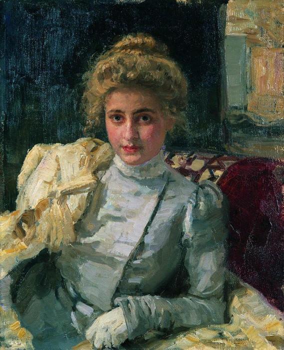 Блондинка (Портрет Ольги Тевяшевой). 1898. Илья Ефимович Репин