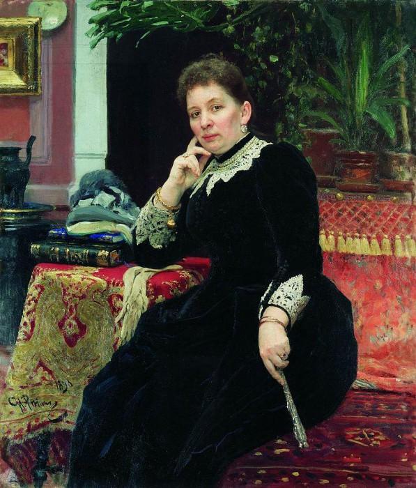 Portrait O. Alexandrova - Gaines. 1890. Ilya Repin