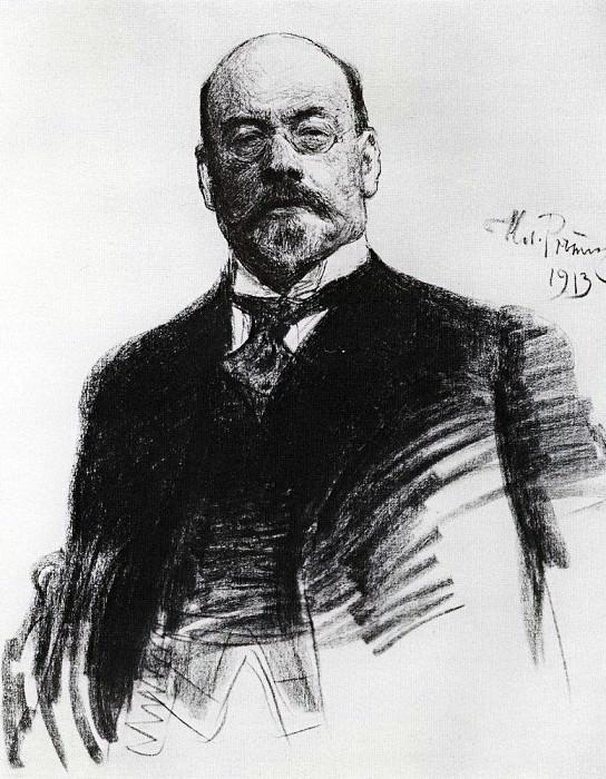 Portrait of the artist Ostroukhov. 1913. Ilya Repin