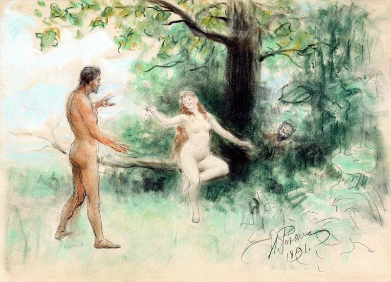 Temptation. 1891. Ilya Repin