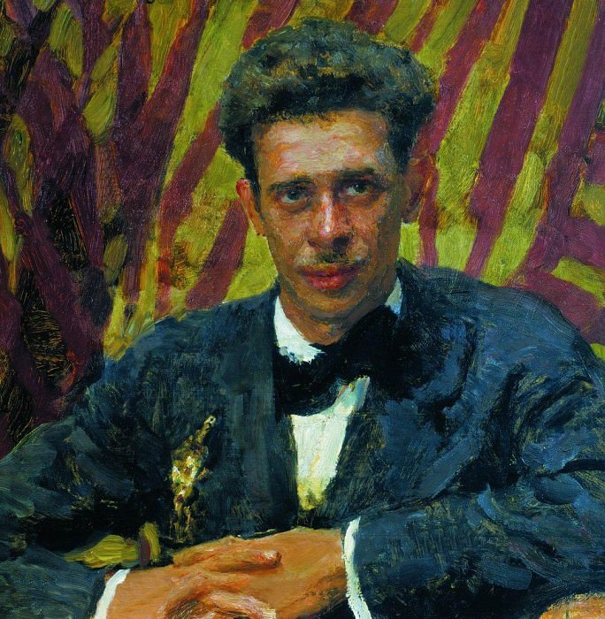 Portrait of Nikolai Remizov. 1917. Ilya Repin