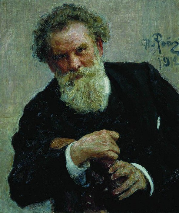 Portrait of the writer Vladimir Korolenko. 1912. Ilya Repin