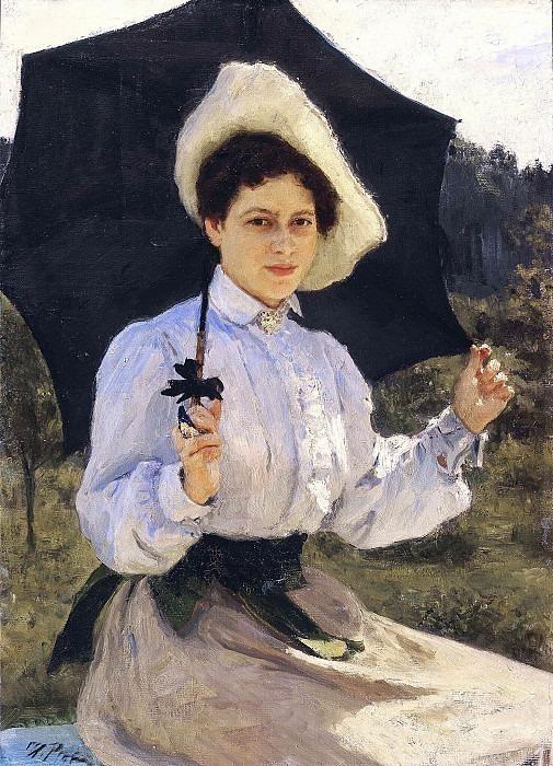 In the sun. Portrait of N.I. Repina, the artist's daughter. Ilya Repin