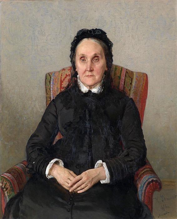 Portrait of Alexandra Tretyakova. Ilya Repin