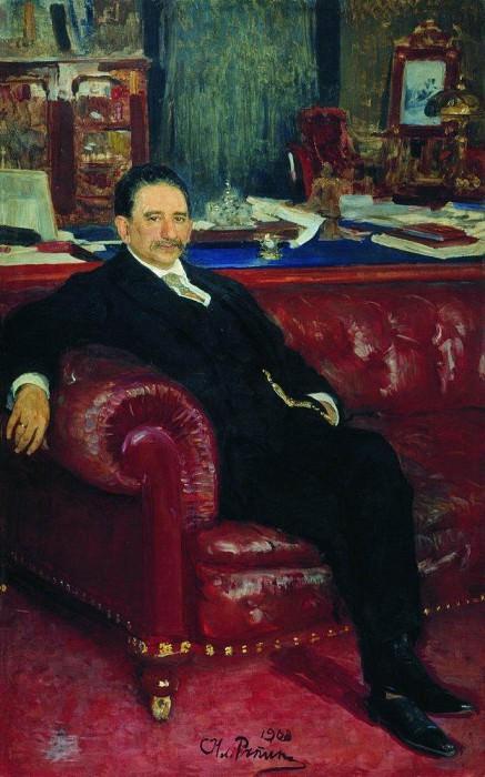 Portrait BA Kaminki. 1908. Ilya Repin