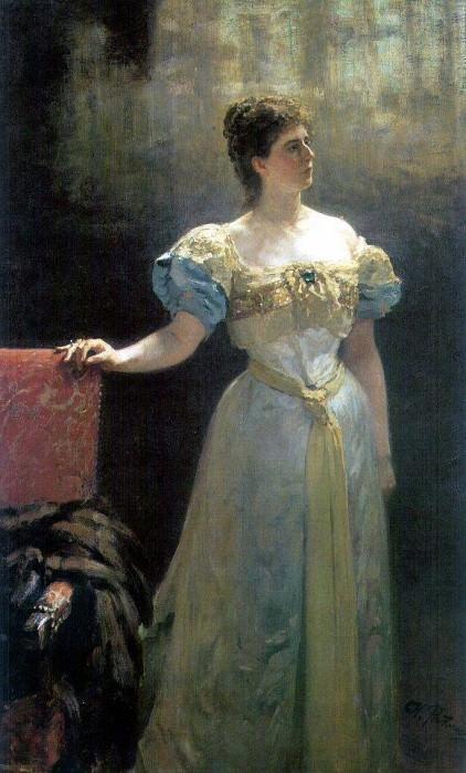 Портрет княгини М. К. Тенишевой. 1896. Илья Ефимович Репин