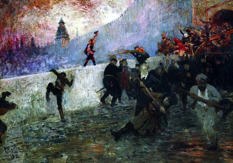 In the besieged Moscow in 1812. 1912. Ilya Repin