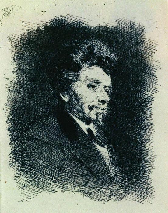 Portrait P. Schindler. Ilya Repin