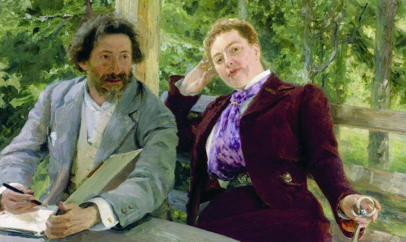 Self-Portrait with Natalia Borisovna Nordman. 1903. Ilya Repin