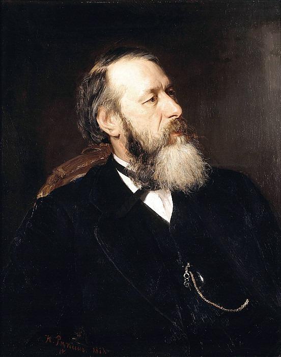 Portrait of the critic Vladimir Stasov. 1873. Ilya Repin