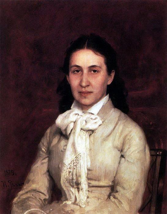 Portrait EG Mamontova. 1874-1879. Ilya Repin