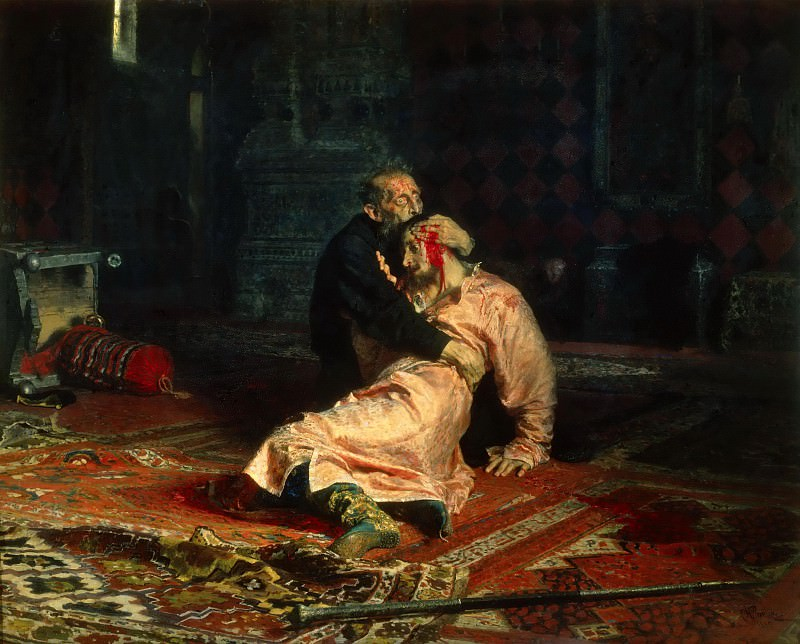 Ivan the Terrible and His Son Ivan on November 16, 1581. Ilya Repin