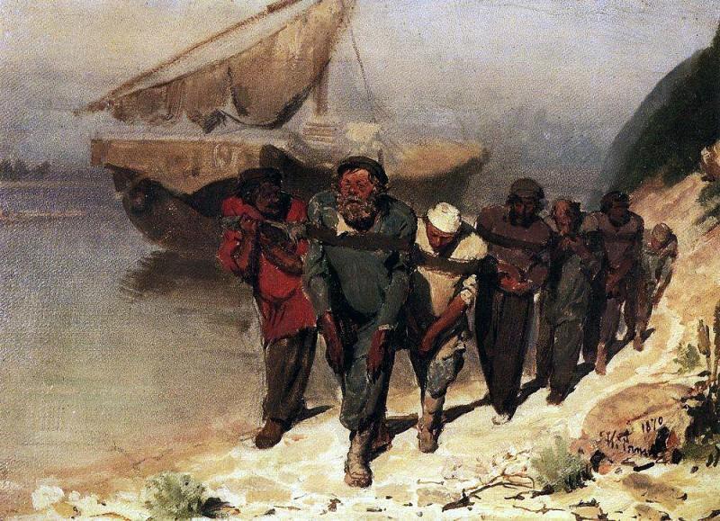 Бурлаки на Волге 1. 1870. Илья Ефимович Репин