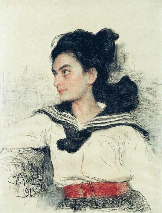 Портрет М. О. Левенфельд. 1913. Илья Ефимович Репин