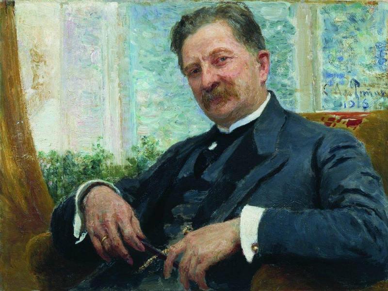 Portrait Vengerov. 1916. Ilya Repin