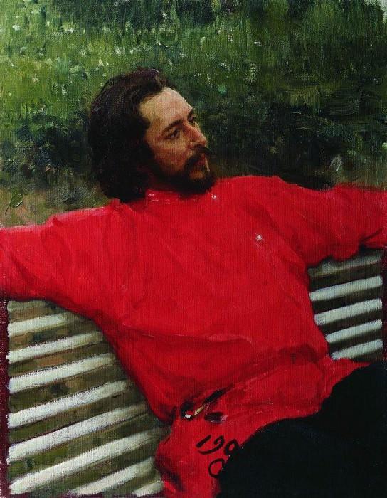 Portrait LN Andreeva (Summer Vacation). 1905. Ilya Repin