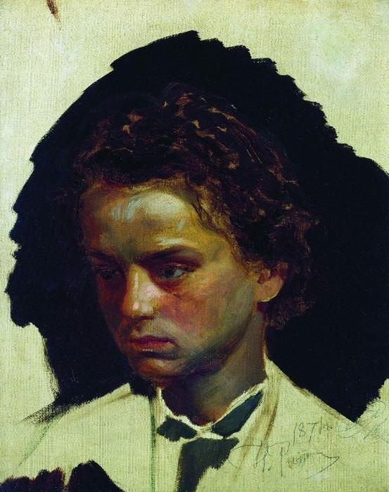 Portrait of the sculptor IYGinzburg in his youth. 1871. Ilya Repin