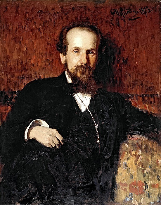 Portrait of the artist P.P. Chistyakov. Ilya Repin