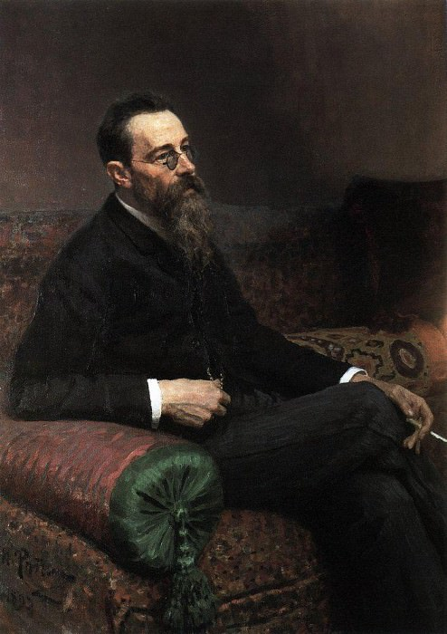 Portrait of the composer Rimsky-Korsakov. 1893. Ilya Repin