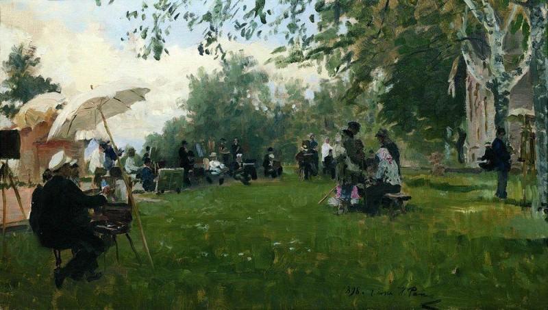 On Academic cottage. 1898. Ilya Repin
