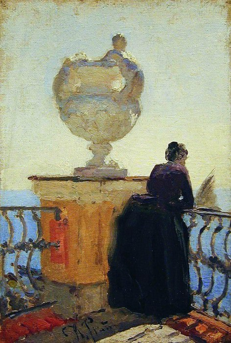 On the waterfront. Start 1900. Ilya Repin